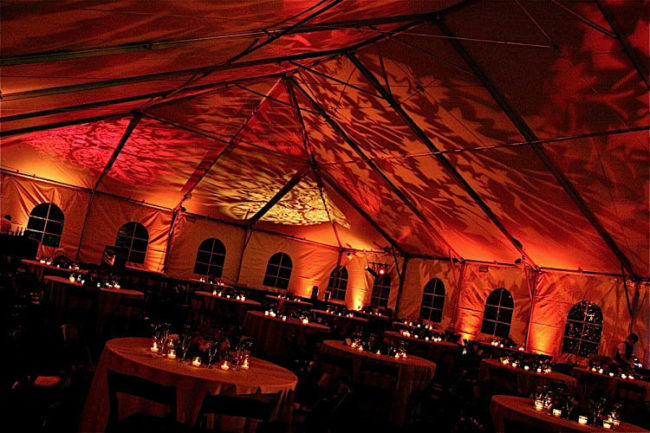 tent rental ceiling decor