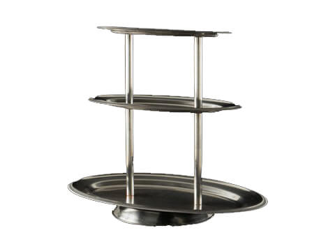 3-Tiered Stainless Oval Tray - Copy
