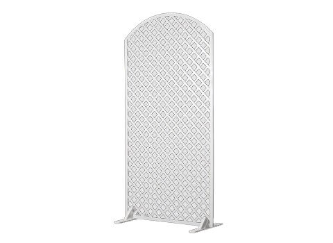 4x8 white lattice panel with arch top