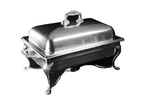 8 qt. Silver Chafer with 1 sterno - Copy