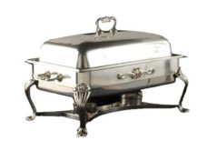 8 qt. Silver Chafer with 2 sternos - Copy