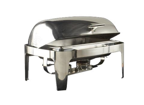 8 qt. Stainless Roll Top Chafer - Copy