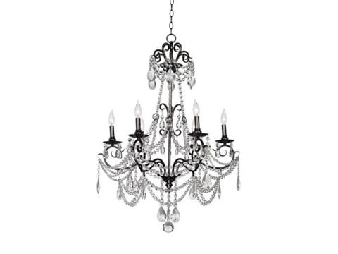 Black and Crystal Chandelier