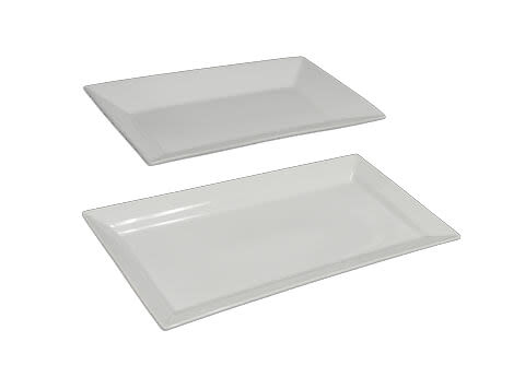 Ceramic White Rectangle Trays 2 - Copy