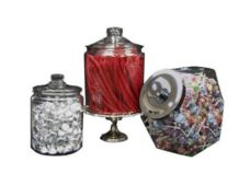 Clear Glass Jars w Lid