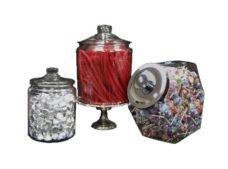 Clear Glass Jars w  Lid - NEW!