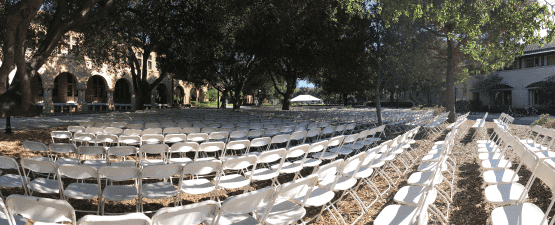 outdoor fundraising event with rental chairs