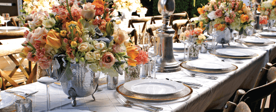 wedding rentals elegant place setting