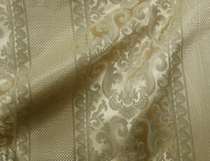 Damask Antique Gold with Stripe