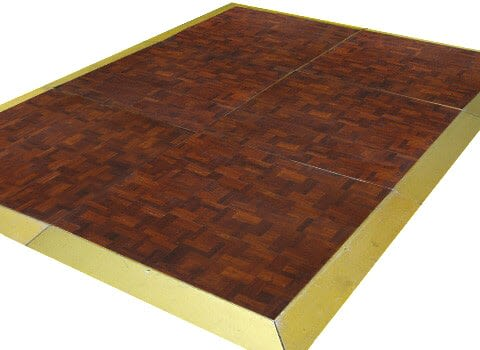 Dance Floor - Dark Oak Parquet 3'x3' Sections