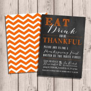 Custom Thanksgiving Party Invitations