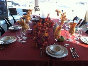 Thanksgiving Table Setting and Decorations