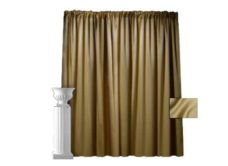 Gold Lamour Pipe and Drape - 8' High