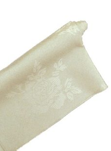 Ivory Rose Damask Napkin - For Sale!
