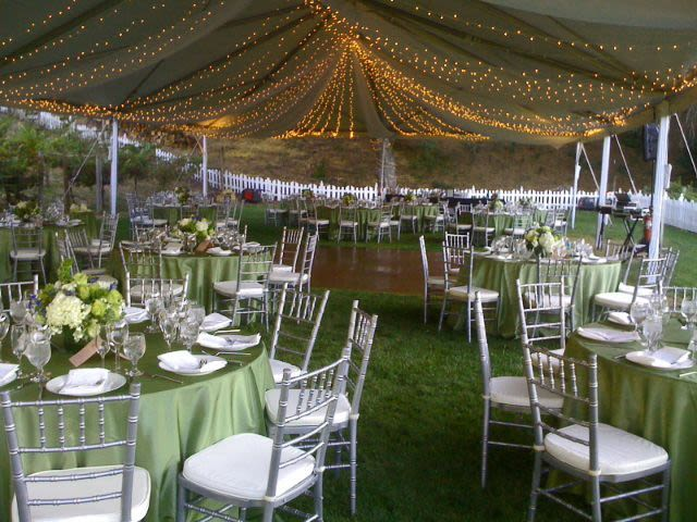 & Twinkle Light-Filled Wedding Tent | Stuart Event Rentals