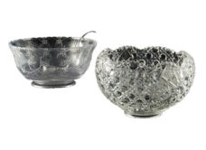 Plastic and Glass Punch Bowls