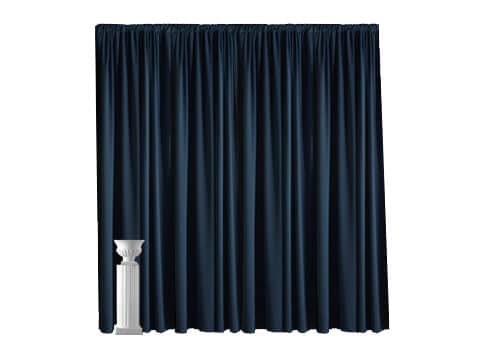 Poly-Cotton Pipe and Drape - 12' High