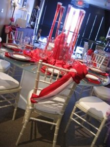 Red and White Linen 1