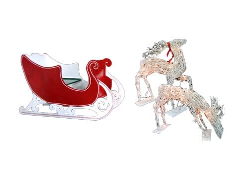 Santa Sleigh and Deer-edit