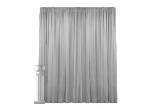 yyc pipe wedding drapes dj djs black drape premium calgary and white