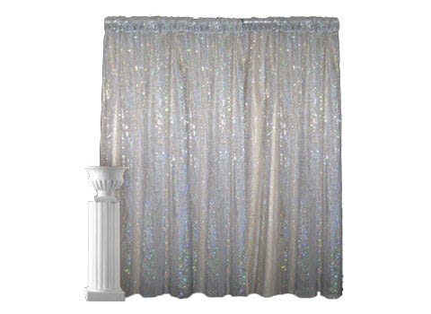 Sparkle Pipe and Drape - 8' High