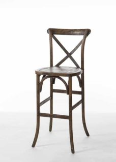 Hickory Crossback Bar Stool