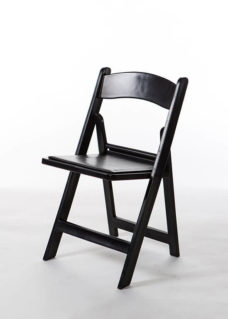 Black Resin Chair