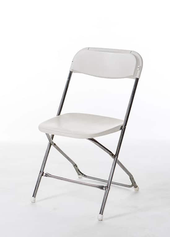 White Amp Chrome Samsonite Chair Stuart Event Rentals
