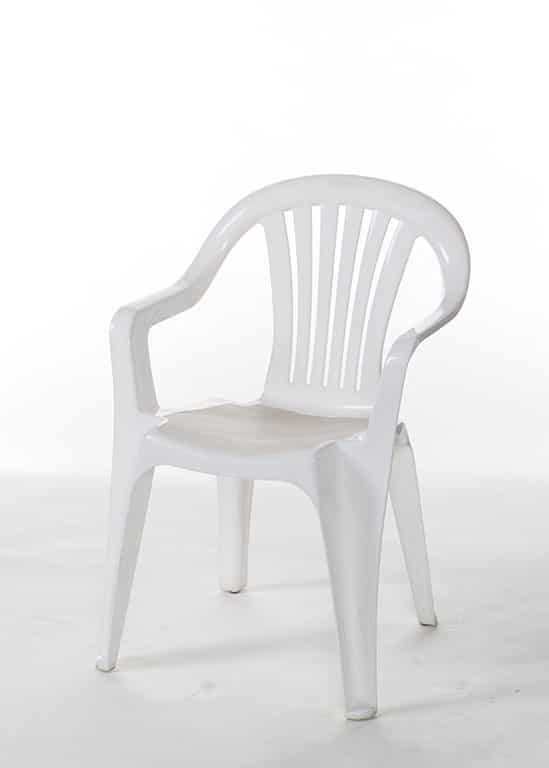 White Plastic Chair With Arms Stuart Event Rentals