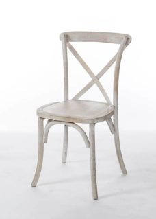 Whitewash Crossback Chair