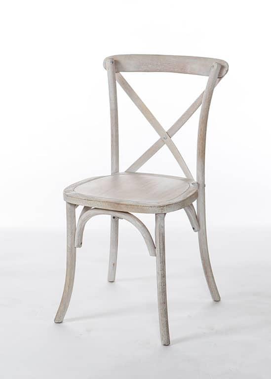 Genial Whitewash Crossback Chair