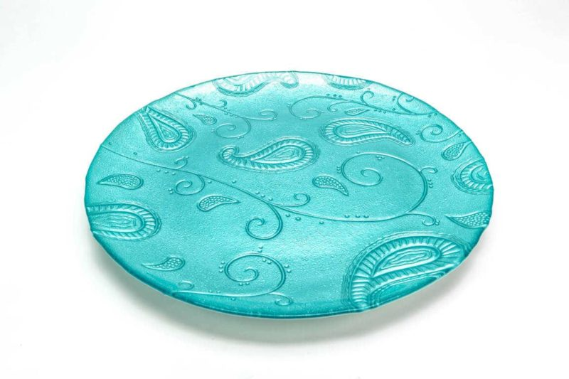 Turquoise Glass Charger