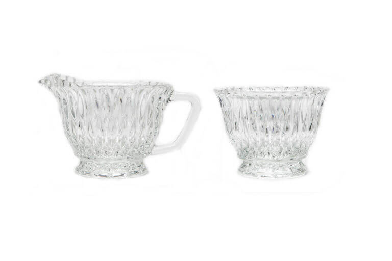 Glass Creamer & Bowl