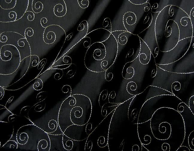 Stuart-Event-Rentals-Linen-Metallic-Swirl-Black