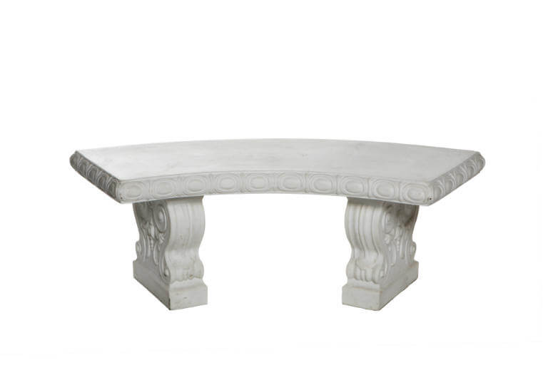 White Arched Bench