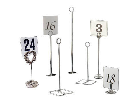 Merveilleux Table Number Holders