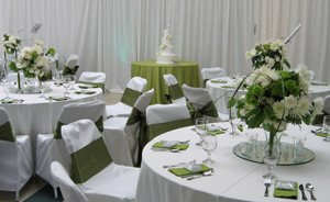 Teen Center Transformed for Green and White Wedding_5