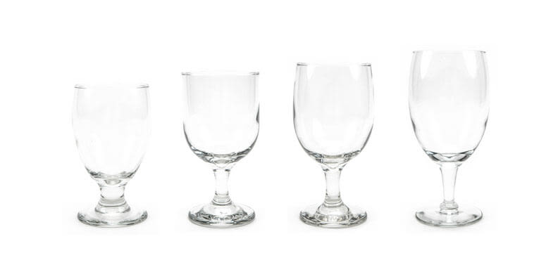Traditional Water and Iced Tea Glassware