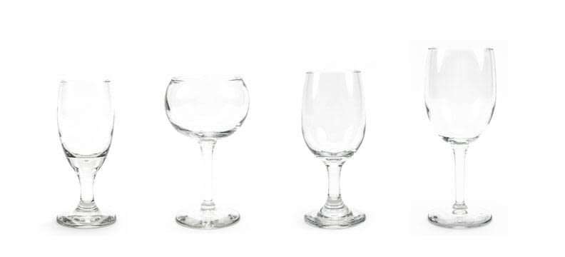 Traditional - Whiskey Sour & Wine Glasses