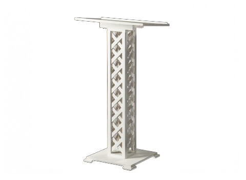 White Lattice Guest Book Stand