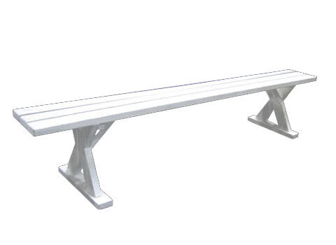 White Wood Picnic Bench Stuart Event Rentals - Wooden picnic table without benches