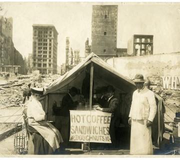 1906 earthquake coffee and sandwich tent