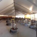 construction tent interior view