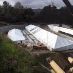 construction tent panorama view