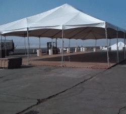 sub-floor under open tent