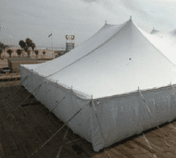 white walls inside outdoor tent