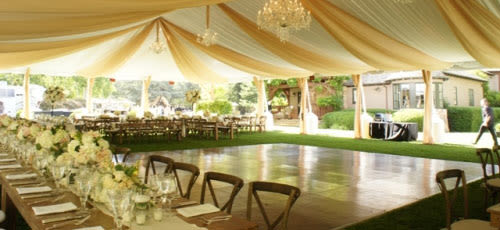 party rentals for a whimsical wedding reception