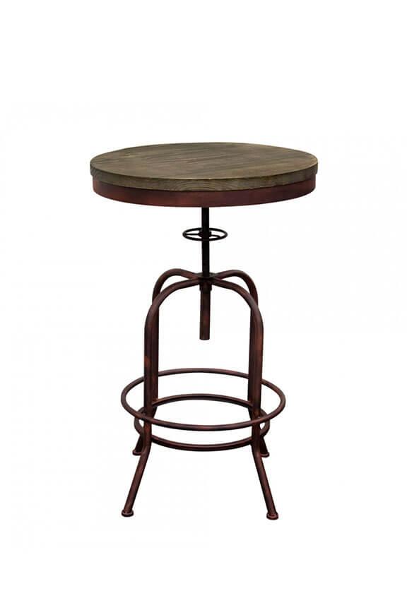 saloon rustic bar table stuart event rentals. Black Bedroom Furniture Sets. Home Design Ideas