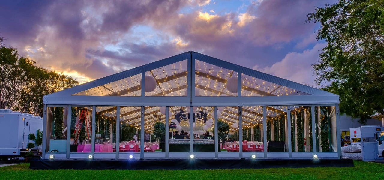 stuart event rentals norton museum gala tenting