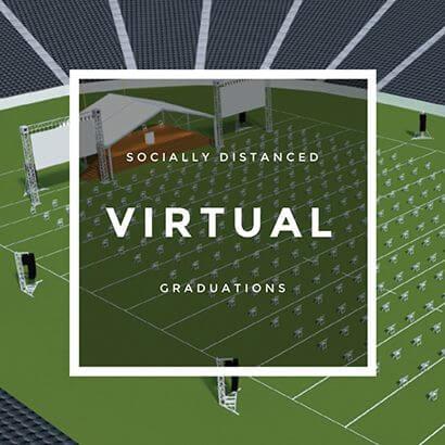 socially distanced virtual graduation ceremonies